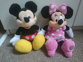 Disney talking Mickey Mouse and Minnie Mouse soft toys