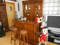 Complete House Bar,Counter + 2 Stools