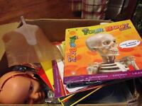 Large box full of Billie Bones/How you body works magazines, folders and accessories