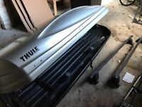 Thule Roof Box with Mont Blanc roof bars