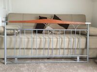 Double Bed Beech & Metal Headboard Frame