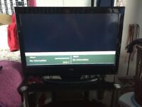 "32"" Alba TV with freeview and glass stand"