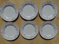 "JOHNSON BROTHERS SUMMER CHINTZ 9.75"" DINNER PLATES X6"
