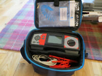 Metrel Mi 2092 Power Harmonics Analyser with leads, instruction booklet and carry case