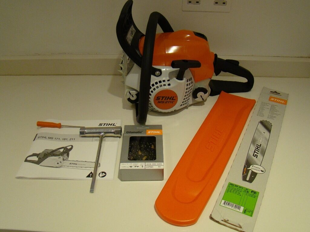 stihl ms 211 c be chainsaw new boxed 16 bar in egham surrey gumtree. Black Bedroom Furniture Sets. Home Design Ideas
