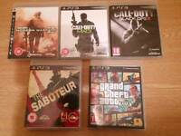 5 Ps3 Used Games + 2 extra