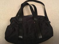 Tiny Tillia black embroidered Change Bag
