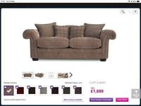 DFS Loch Leven 3 seater sofas x2. Mink