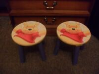 Winnie the pooh wooden toddler stools