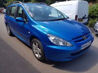 Peugeot 307 SW 1.6 HDi S 5dr 2004 CHEAP BARGAIN ESTATE CAR DIESEL £550 PX WELCOME
