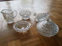 Beautiful crystal set be a lovely wedding present