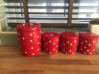 Next canisters and matching biscuit jar.
