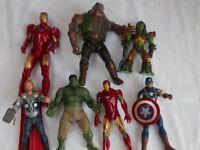 Marvel Figures - Iron Man x 2 / Captain America/Hulk/ Thor & others