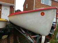 15ft grp open dinghy with trailer Kestrel Sailing Dinghy