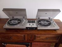 Stanton str8-30 Direct Drive turntables+ Numark m101 2 channel mixer/uk delivery available