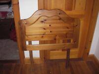 Single pine headboard for sale.