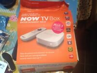 Now TV box with 3 months entertainment pass inside.
