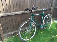 Man's Raleigh city bike
