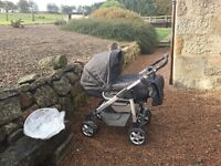 Silver Cross 3D Pram Pushchair. Approximately 5 years. Very good condition as has had little usage