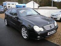 MERCEDES-BENZ C CLASS 2.1TD C220 CDI SE Coupe 2d 2148cc auto (black) 2004