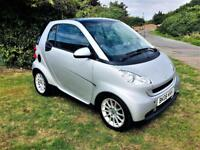 SMART FORTWO-COUPE 1.0 PASSION, MOT Aug 2019, Full Main Dealer service History (silver) 2008