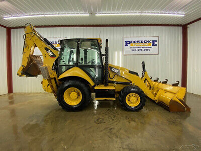 Caterpillar 420f Cab Backhoe Loader With Acheat Auto Idle And 4x4