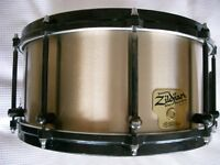 "Zildjian by Noble & Cooley cast cymbal bronze snare drum 14 x 6 1/2"" - USA - '98 - Original model"