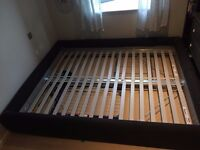Dark grey king-size IKEA Grimen bed for pick-up in N7