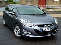 2012 62 Hyundai i40 1.7 CRDi BlueD Style Estate, Satnav,136ps, £30 Road Tax. Long Hyundai Warranty