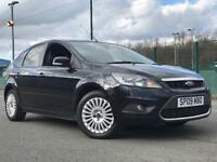 2009 FORD FOCUS TITANIUM DIESEL * FSH - 9 * SPORTY BLACK * LONG MOT * PART EX * DELIVERY