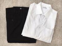 2 prs boy's trousers & 2 shirts Age 15-16.
