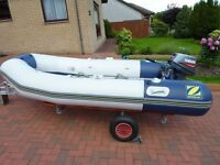Zodac 310 Air Deck 5 Person Sport Boat.