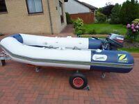 Zodac 310 Air Deck 5 Person Sport Boat.