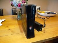 Xbox 360 newer model with power pack no controllers has the red light on spare or repair vgc