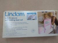 Brand new unopened Lindam soft folding bed rail