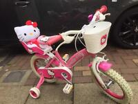 "Kids bike - Hello Kitty bike with stabilisers 14"" in excellent condition"
