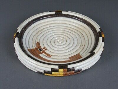 Vintage Trash Can Jar Design Sardo Sinnai in Ceramic Painted Period Xx Century