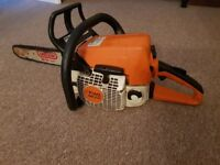 Stihl ms210 petrol chainsaw