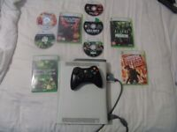 XBOX 360 CONSOLE WITH GREAT GAMES.