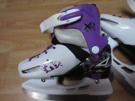 XQ Max Adjustable Girl's Ice Skates - Infant Size 11 - 13.5 Used Twice