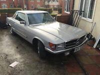 MERCEDES SL 280 SL 1981 X REG SILVER SPARES OR REPAIRS OR PARTS