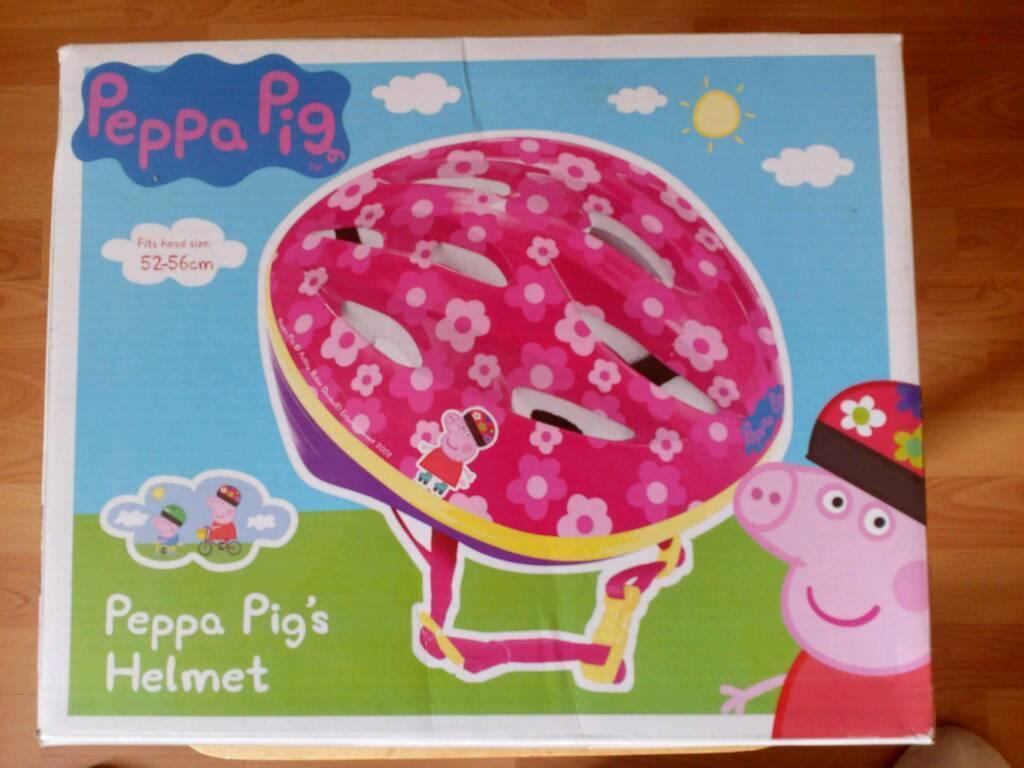 Brand New In Box Children's cycle helmet Peppa Pig's Helmet 52-56cm