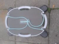 Contrix balance trainer. Improves fitness of the core.
