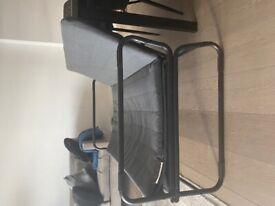 Ikea Black Sofabed - Metal Frame