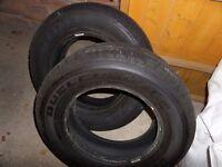 Two - Bridgestone Dueller h/t 205/70/R15 tyres.