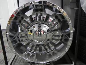 18 INCH NEW OFF ROAD CHROME RIMS DUAL FIT 6 BOLT - GM & FORD & 5 BOLT DODGE & JEEP