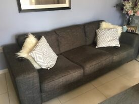 Theee seater and two seater sofa