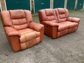DFS electric reclining sofa suite+ Free Delivery