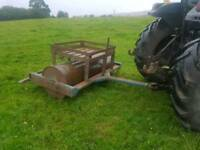 Tractor 6ft land field paddock roller has concrete inside