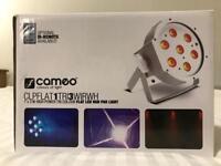 4x Cameo Flat PAR LED RGB DMX Lights